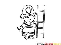 Straż pożarna kolorowanka-malowanka do druku