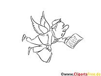 Gratis Bild zum Ausmalen Engel