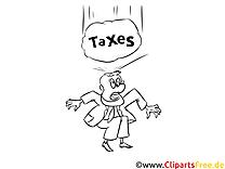 Gratis Malvorlage Steuer