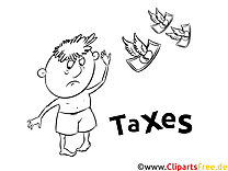 Gratis Malvorlage Steuern
