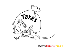 Taxes Coloring Page free