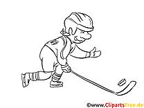 Cartoon Eishockey Bild zum Drucken und Malen