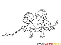 Eishockey-Weltmeisterschaft Malvorlage Winter-Sport