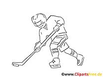 Eishockey spielen Malvorlage Winter-Sport