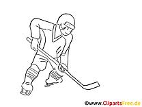 Eishockeyspieler Malvorlage Winter-Sport