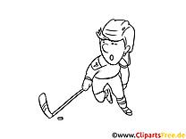 Mal Bilder Ausdrucken zum Thema Winter-Sport, Eishockey