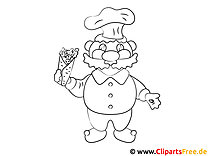 Cartoon Koch Ausmalbild kostenlos