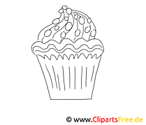 Gebäck Malvorlage Kuchen