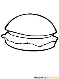 Hamburger Malvorlage - Essen Malvorlagen