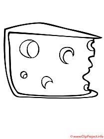 Käse Malvorlage kostenlos
