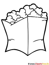 Popcorn Ausmalbild - Ausmalbilder zum Ausmalen