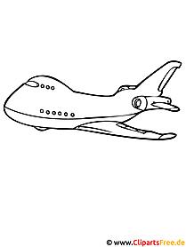 Flugzeug Ausmalvorlage - Ausmalvorlagen kostenlos