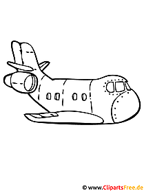 Flugzeug Window Colour Vorlage