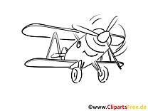 Fröhliches Flugzeug Ausmalbilder Technik und Aviation