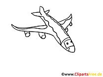 Himmel Flugzeug Ausmalbilder Technik und Aviation