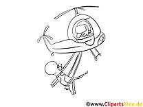 Hubschrauber Ausmalbild zum Ausmalen