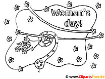 Womans Day colouring page