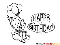 Geburtstag Ausmalbilder