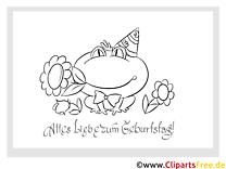 Frosch Malvorlage zum Kindergeburtstag