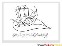 Käfer Geschenk Malvorlage zum Kindergeburtstag