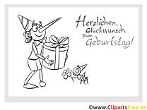 Pinocchio Geschenk Vorlage zum Ausmalen zum Geburtstag