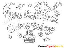 Süßigkeiten Malvorlage - Grusskarten zum Geburtstag selbst basteln