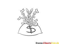 Lottogewinn - Ausmalbild zum Ausmalen