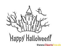 Farvelægning Halloween med slot