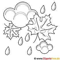 Regnbillede - skabelon til maling af efteråret