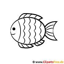 Fisch Malvorlage