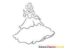 Ausmalbild Prinzessin, Bild, Download