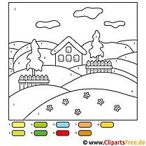 Malen nach Zahlen Landschaften