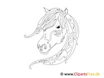 Malvorlage für Erwachsene Pferd