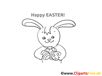 Easter Rabbit Coloring Sheet for free