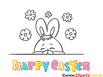 Happy Easter coloring sheet free