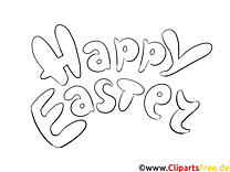 Wunsch Happy Easter coloring page