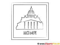 Rom Reisen Ausmalbild