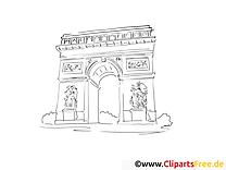 Triumphbogen Paris Ausmalbild