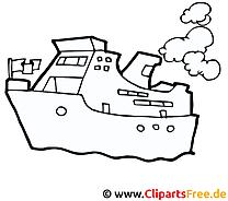 Schiffe Ausmalbilder