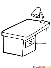 Bild zum Ausmalen gratis - Tisch Bild