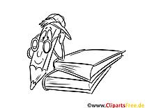Cartoon-Stift Bild, Malvorlage, Ausmalbild kostenlos