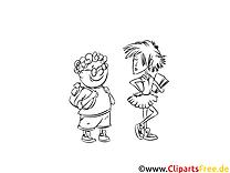 Cartoon zum Ausmalen