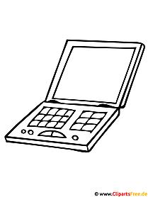 Computer Malvorlage zum Ausmalen und Ausdrucken
