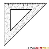 Dreieck Lineal Clipart Bild zum Malen