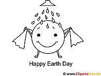 Erde nimmt Bad Tag der Erde Ausmalbild