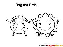 Erde und Sonne Tag der Erde Ausmalbilder