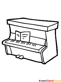 Klavier Malvorlage gratis