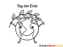 Lächelnde Erde Tag der Erde Ausmalbilder für Kinder