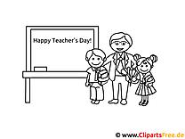 Lehrer und Schüler kostenloses Ausmalbild