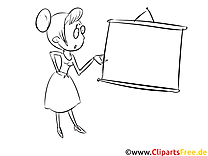 Lehrerin Bild, Malvorlage, Ausmalbild kostenlos